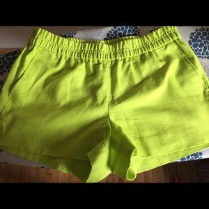 J crew Pull up shorts